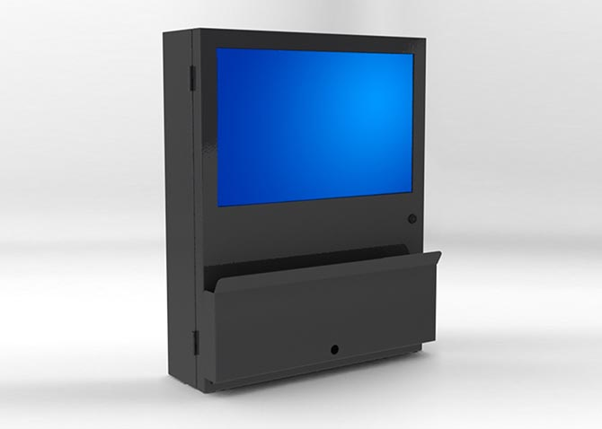 Computer Enclosure w/ optional folding tray