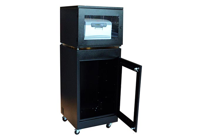 Printer Enclosures with Optional Cabinet Base