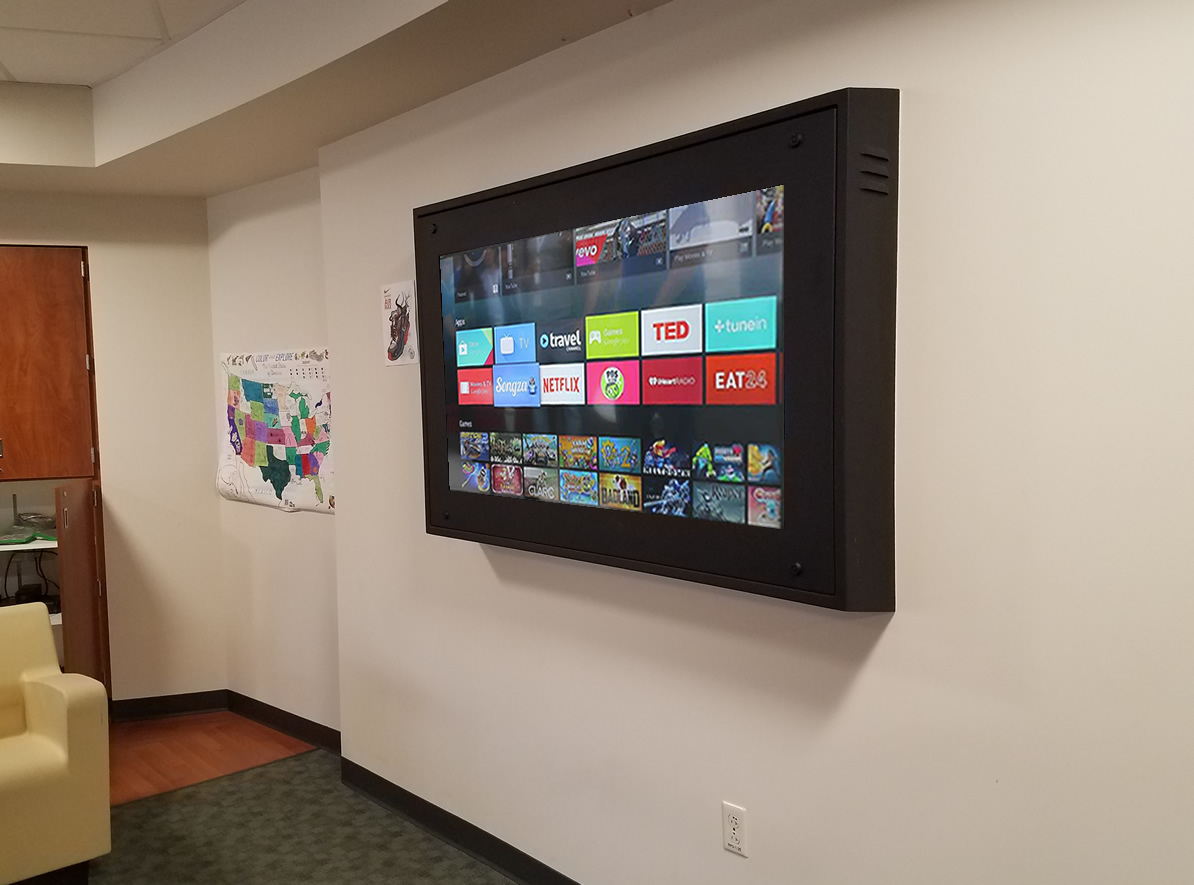 Hospital Sloped Top TV Enclosure