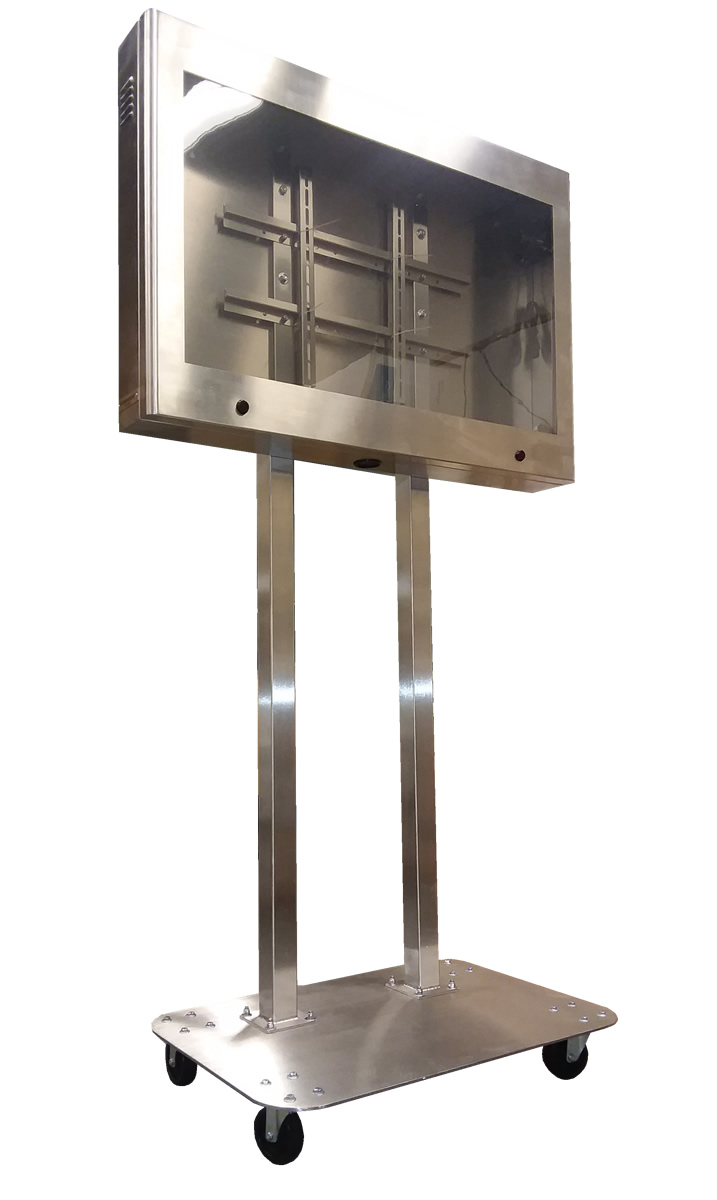 Stainless TV Enclosure with Pedestal