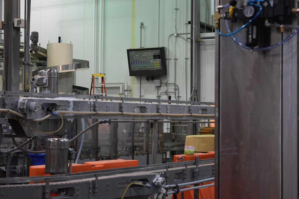 Our LCD Enclosure displays process information at a Dairy Processing Plant.
