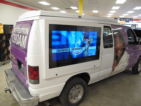 LCD Guardian mounted to the side of a van.