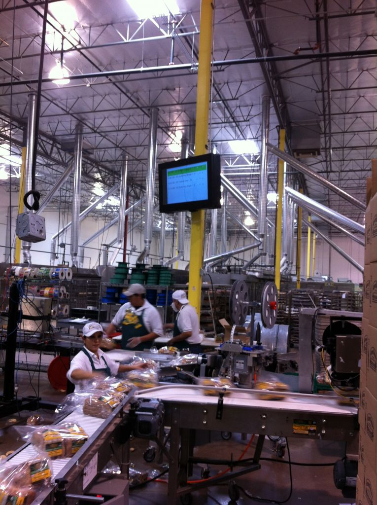 LCD Guardian in a food processing plant.