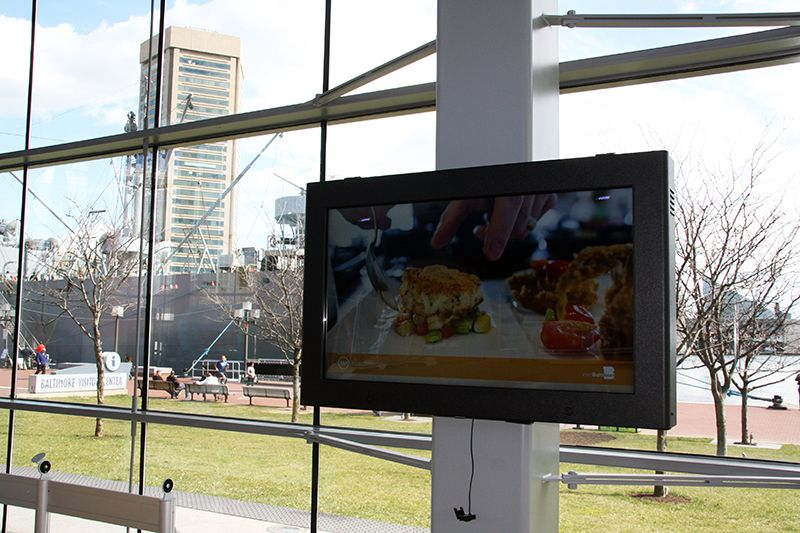 Touch Screen LCD Enclosure in an East coast visitor's center.