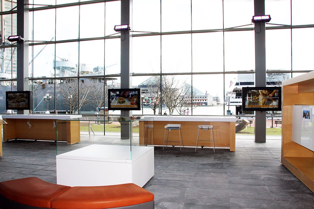 "An installation of 55"" Touch Screen LCD's in our LCD Guardian Enclosures at the Baltimore Visitor's Center."