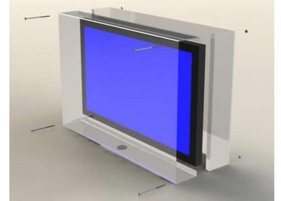 Plastic TV Case